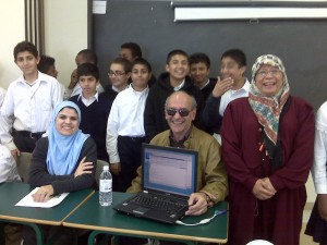 John goofing with students at BC Muslim School.